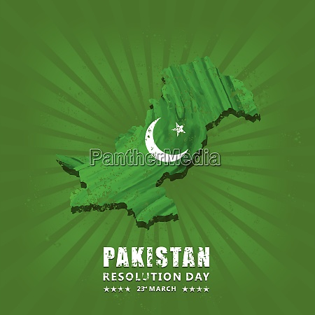 creative vector abstract for happy pakistan