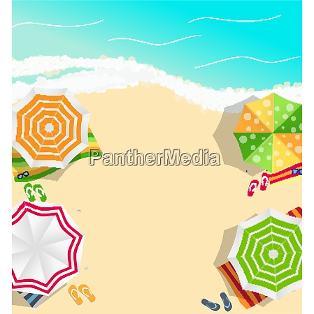 summer time background sunny beach in