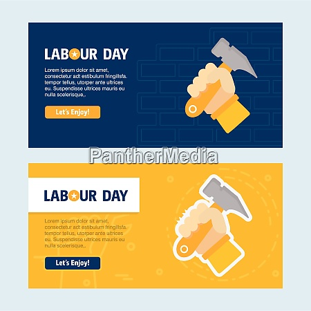 happy labour day design with yellow