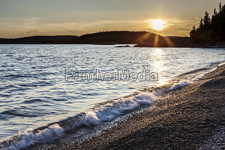 pebble beach on lake superior at