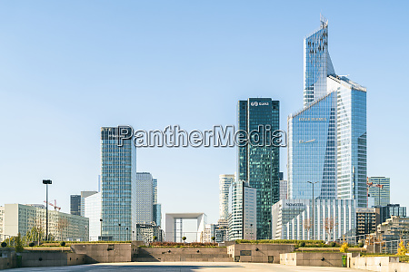 modern architecture and towers skyscrapers at