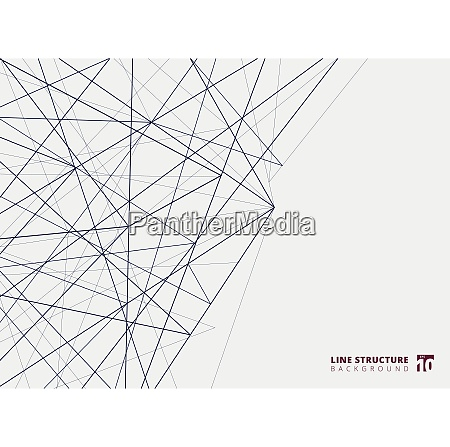 struttura delle linee di sovrapposizione astratta