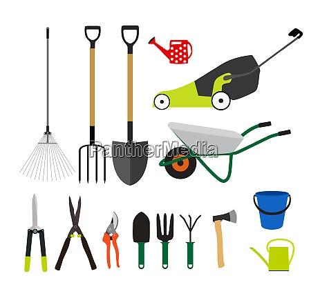 strumenti da giardino strumenti flat icon