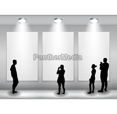 silhouette di persone in background con