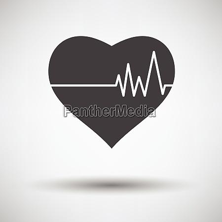 cuore con icona diagramma cardio su