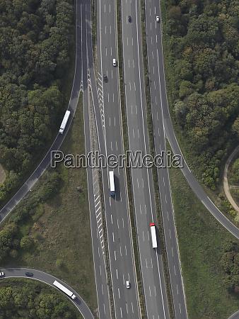 aerial view highway near frankfurt hessen
