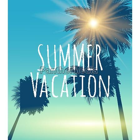 summer vacation natural background vector illustration