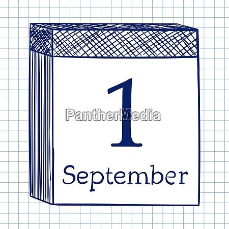 wall calendar doodle sketch on checkered
