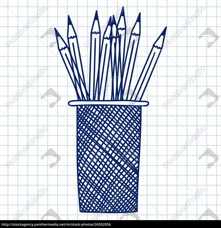custodia, a, matita., doodle, schizzo, su - 26302056