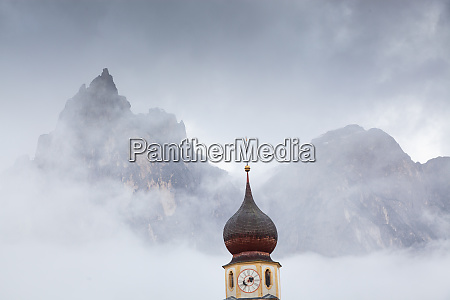 san valentino church on a foggy