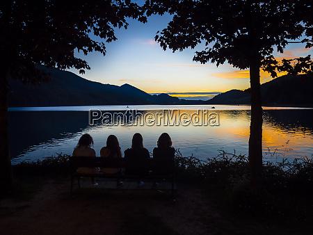 austria upper austria salzkammergut lake fuschlsee
