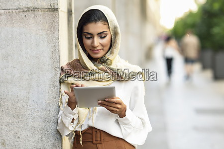 spain granada young muslim woman wearing