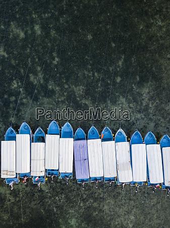 indonesia bali benoa beach aerial view