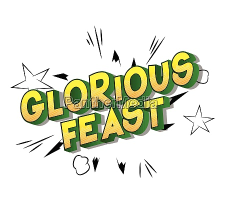 glorious feast comic book style