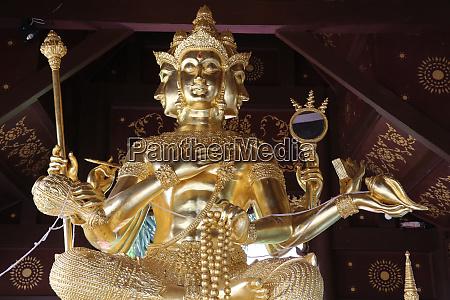 brahma statue in wat chai mongkhon