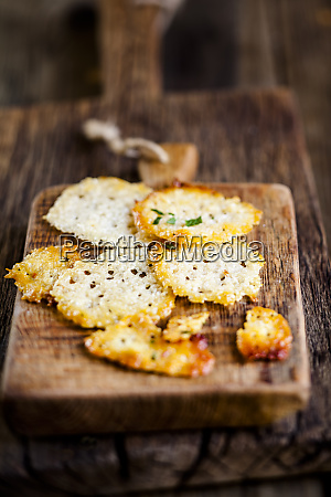 homemade parmesan crisps