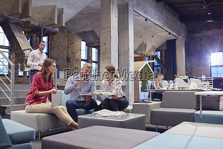 business people having a informal meeting