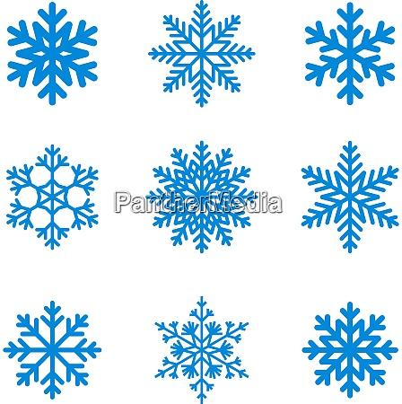 snefnug ikonsamling vektorform