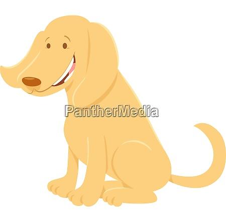 glad beige hund tegneserie animalsk karakter