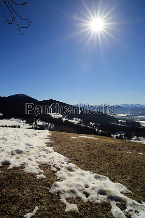 natural landscape with mountains and snow