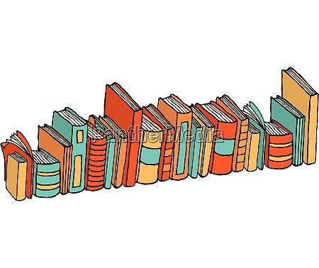 diversi, libri, in, piedi, /, stack - 26761984