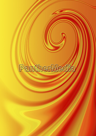 abstract orange liquid spiral pattern