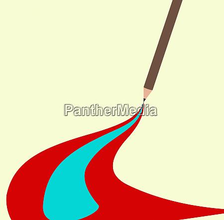 matita disegno strisce colorate