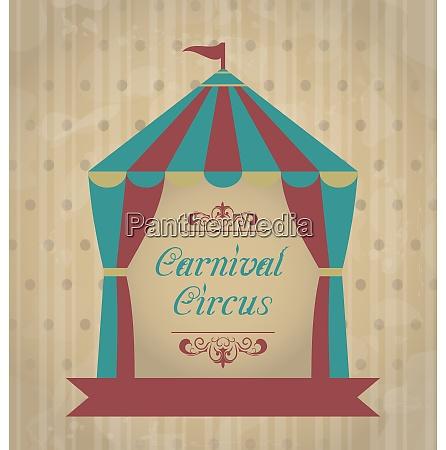 poster di carnevale vintage illustrazione per