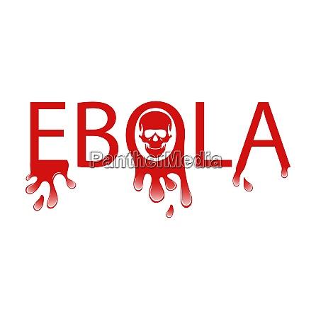 illustrazione avviso epidemia virus ebola carattere