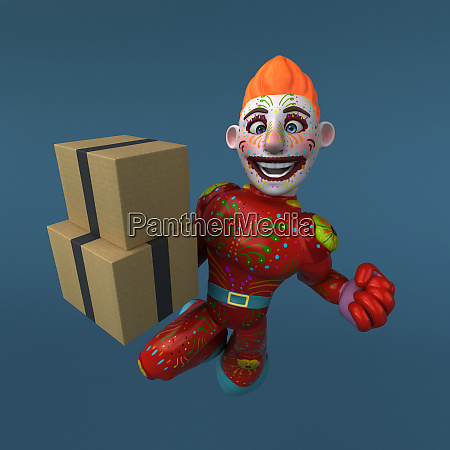 mexican hero 3d illustration