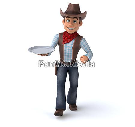 divertente, cowboy-illustrazione, 3d - 26890890