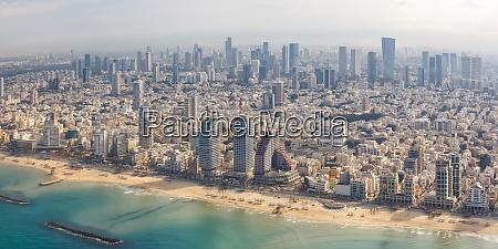 tel aviv skyline panorama israele spiaggia