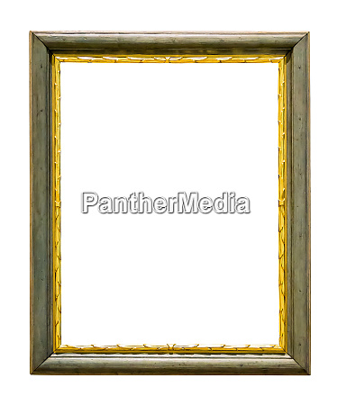 green wooden picture frame with golden