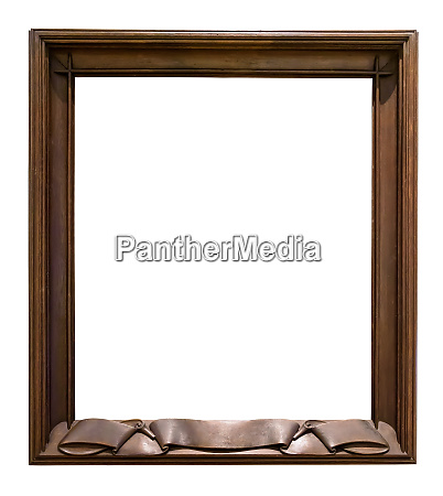 dark wooden decorative picture frame on