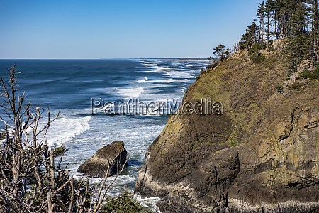 looking north from the cape disappointment