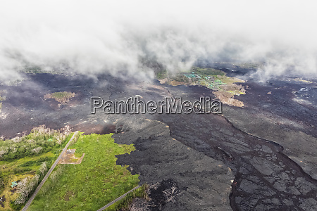 usa hawaii big island aerial view