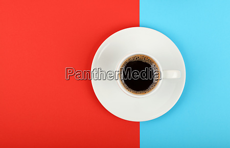 full white espresso coffee cup on