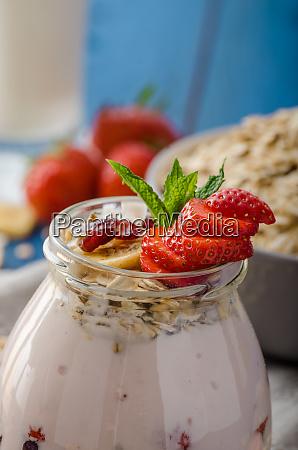 yogurt alla fragola domestico
