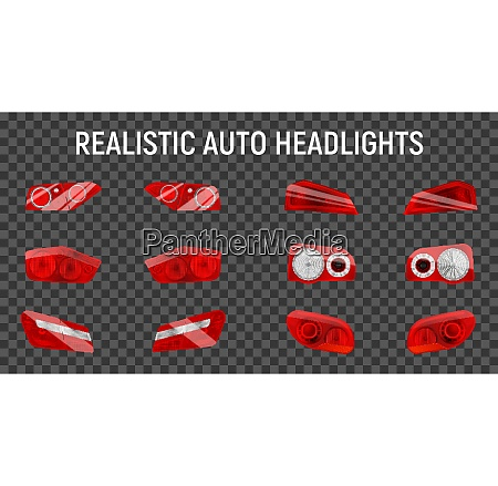 realistic auto back stop headlights set