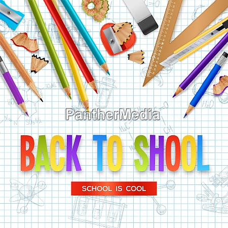 back to school design concept with