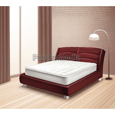 double mattress bed in home interior