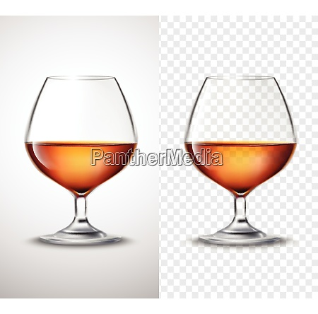 wine glass with golden alcohol drink