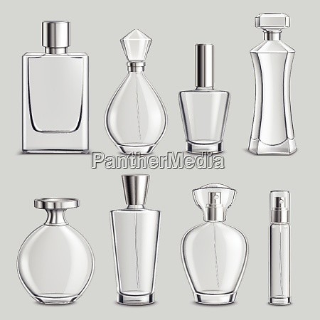 perfume glass bottles various shapes and