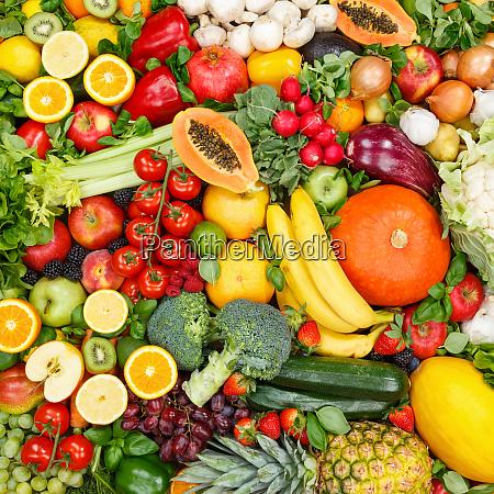 frutta e verdura collezione cibo sfondo