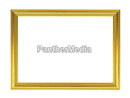golden decorative empty picture frame