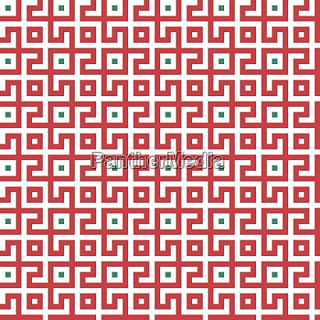 abstract seamless maze pattern geometric red