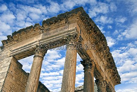 the capitol dougga archaeological site unesco