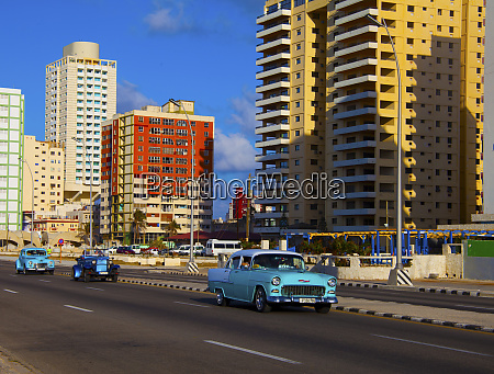 havana cuba three classic old blue