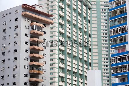 cuba havana apartment building windows and