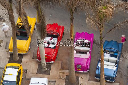 cuba havana overhead view of colorful